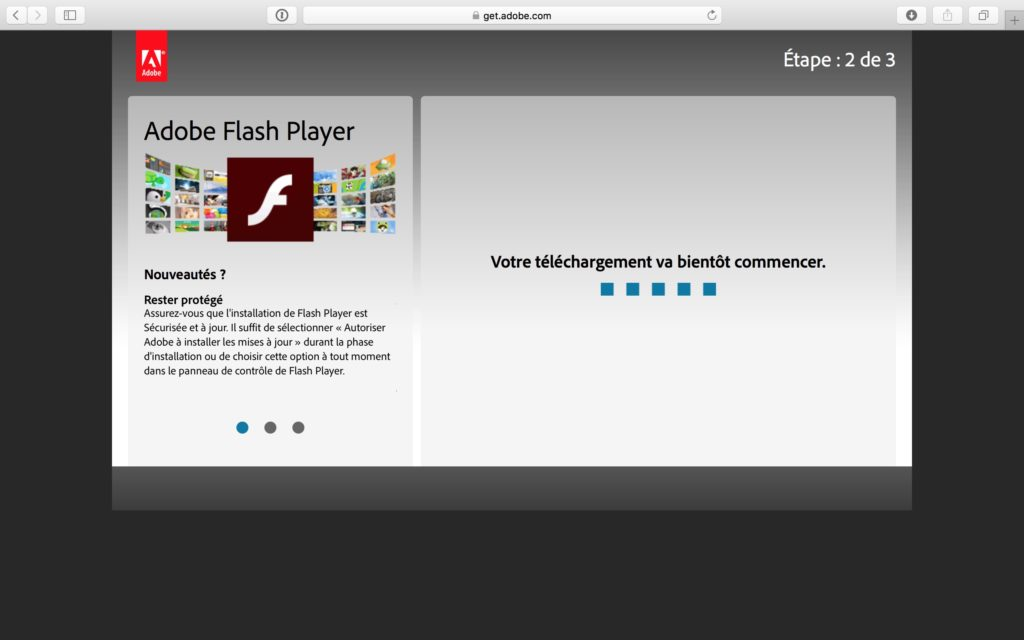 Installer Flash Player Mac OS Sierra telechargement en c ours
