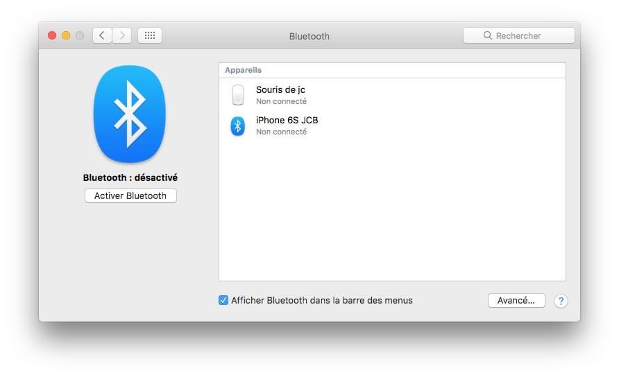 connecter une enceinte bluetooth au mac