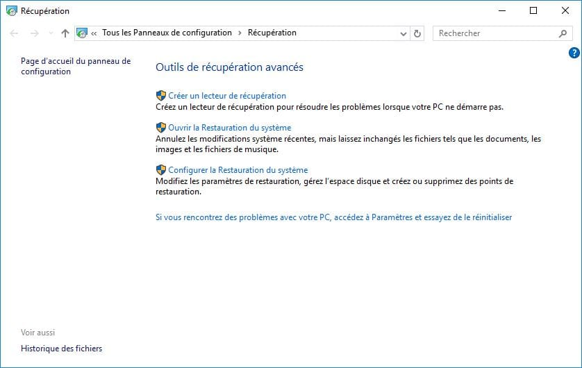 Windows 10 ne demarre plus