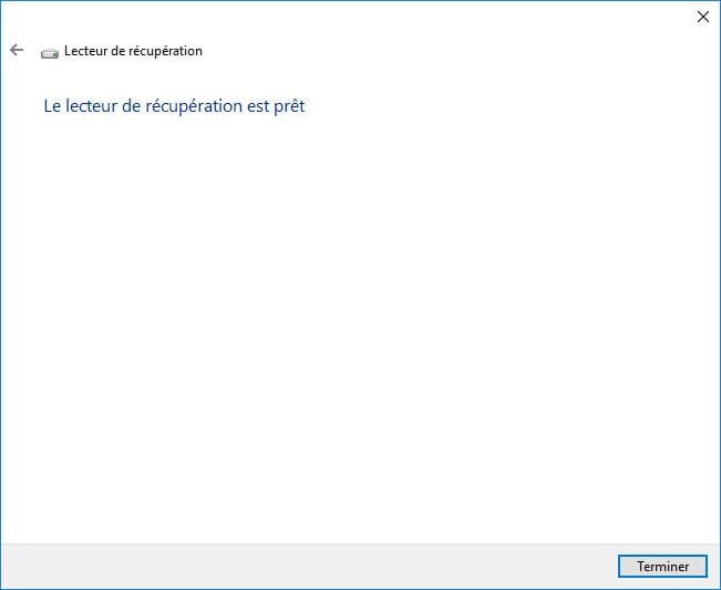 windows 10 ne démarre plus lecteur de recuperation pret