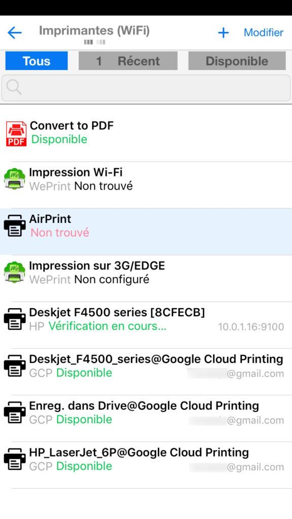 Google Cloud Print printcentral pro