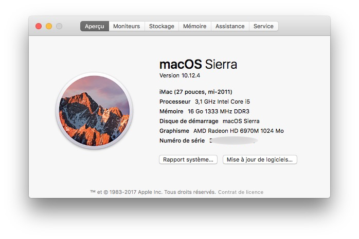 Activer Night Shift sur les Mac non compatibles imac 2011