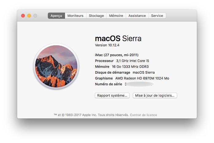 Activer Night Shift sur les Mac non compatibles imac 2011
