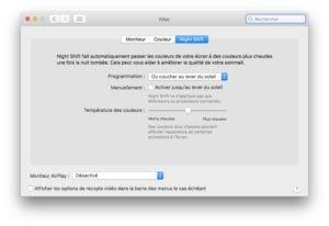 Activer Night Shift sur les Mac non compatibles imac macbook et autres