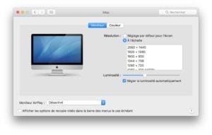 Activer Night Shift sur les Mac non compatibles onglet moniteur