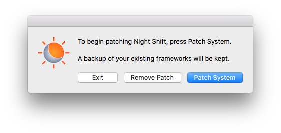 Activer Night Shift sur les Mac non compatibles retour en arriere