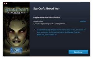 starcraft sur mac installer