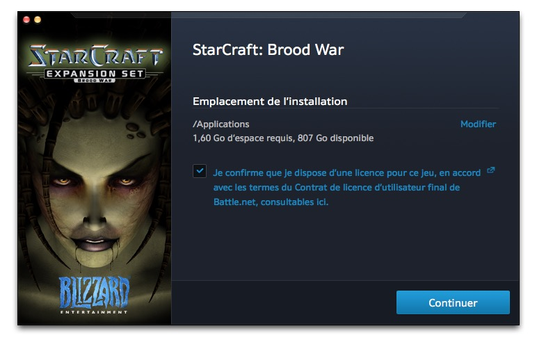starcraft sur mac installer