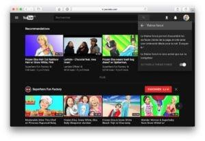 Dark Mode Youtube mode demploi