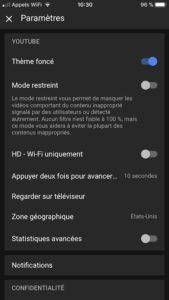 YouTube Dark Mode ios iPhone iPad