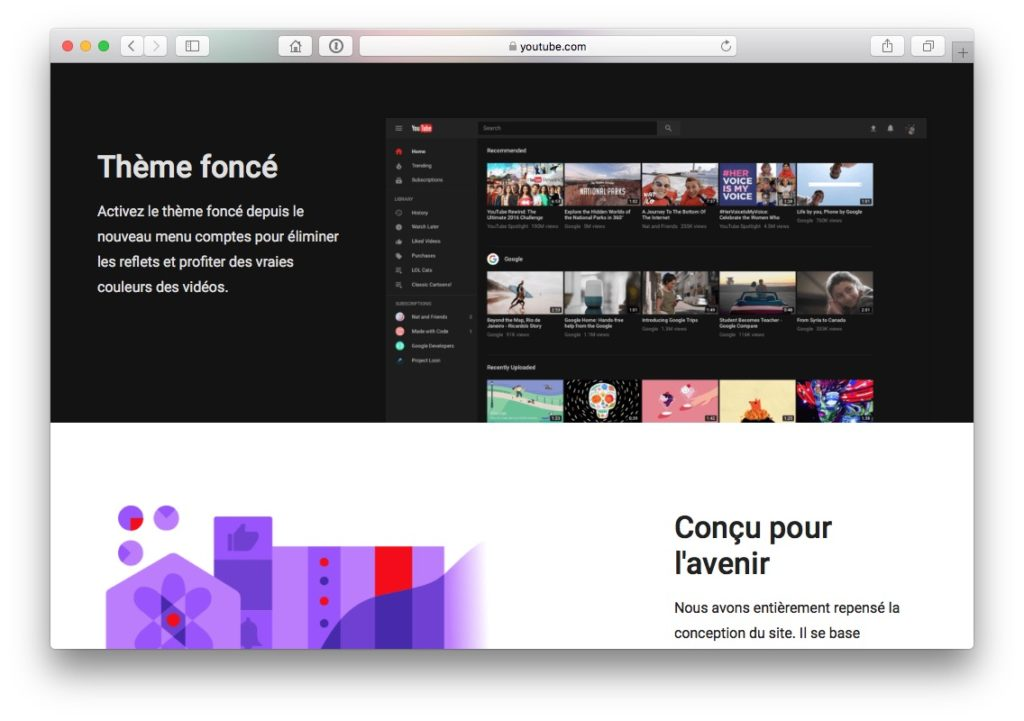 YouTube Dark Mode nouvelle interface