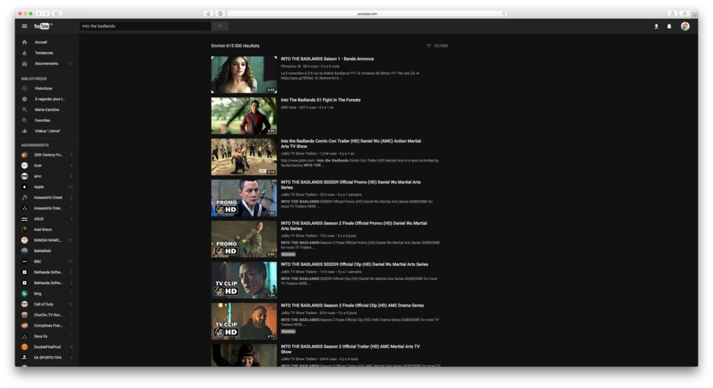 dark mode youtube safari