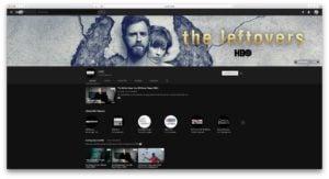 theme sombre youtube visuel