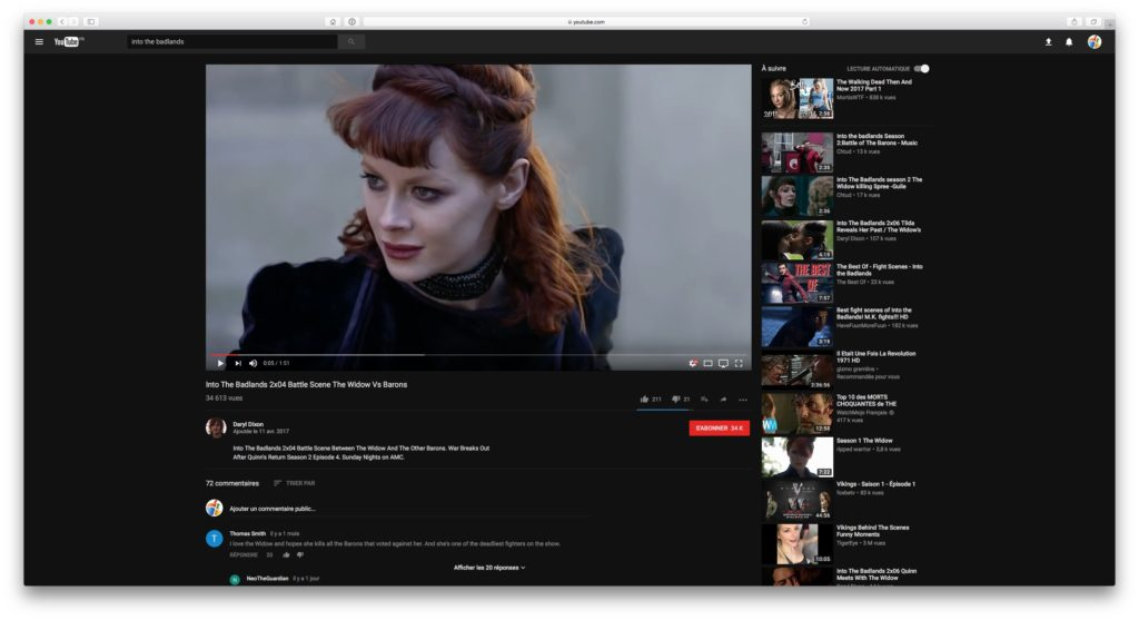 youtube darkmode