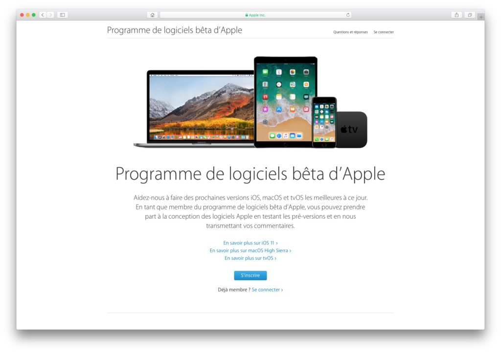 Installer iOS 11 beta publique