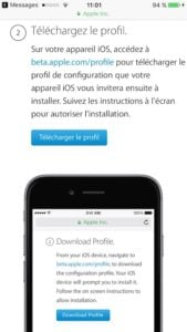 Installer iOS 11 beta sur iphone