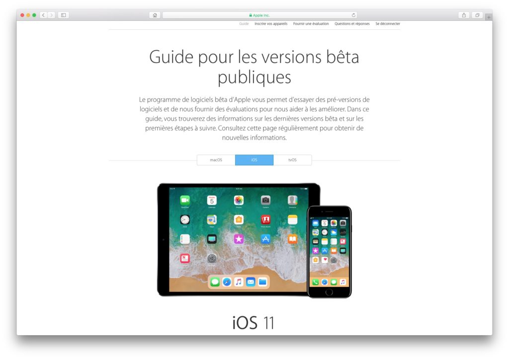 Installer iOS 11 beta tutoriel