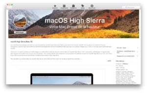 Installer macOS High Sierra beta publique app store