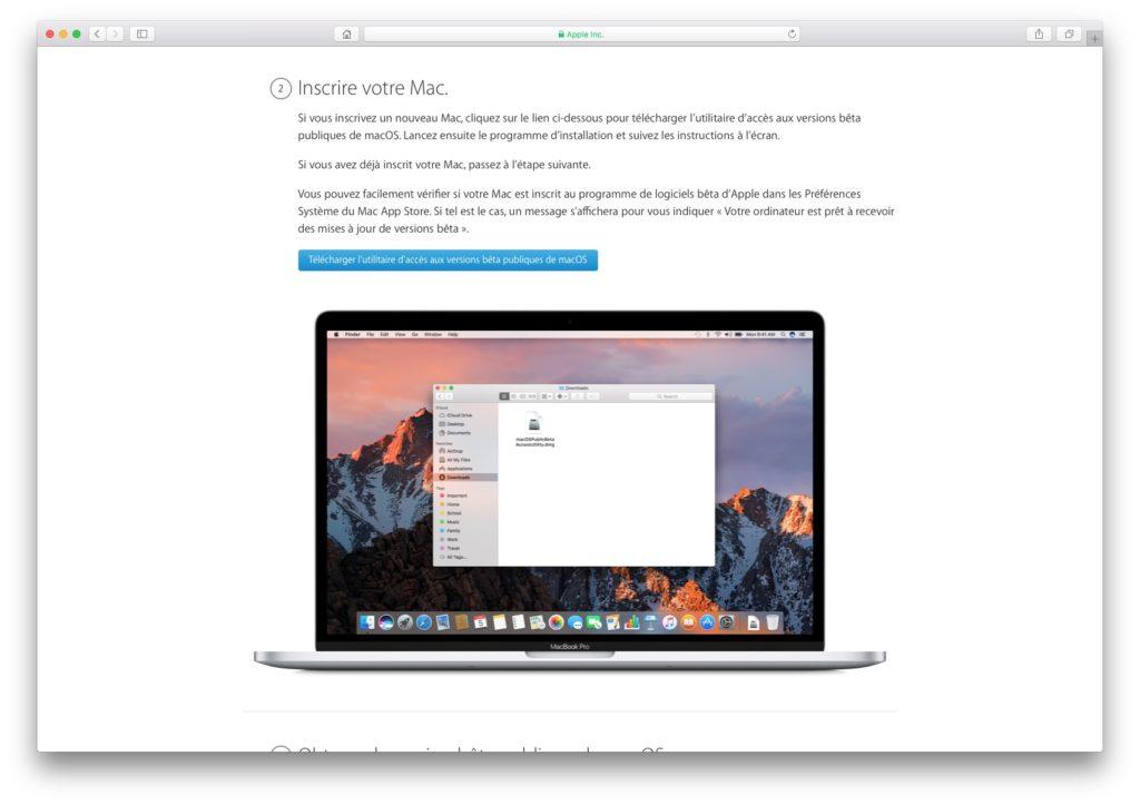 Installer macOS High Sierra telecharger utilitaire