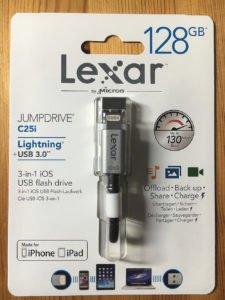 Lexar JumpDrive C25i coffret contenu