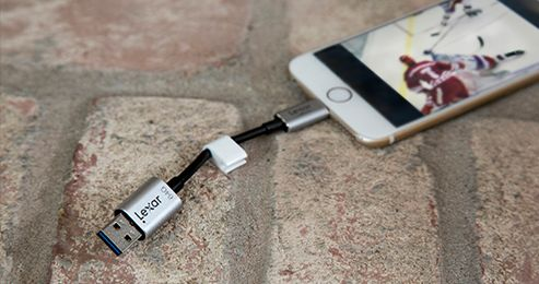 Lexar JumpDrive C25i iphone branchement