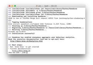 Tester son debit Internet sur mac installation successfull