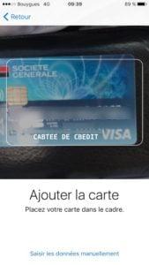 configurer apple pay carte de credit debit