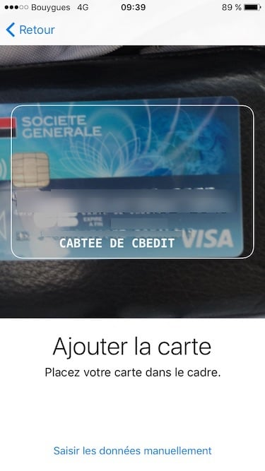configurer apple pay carte de credit debit