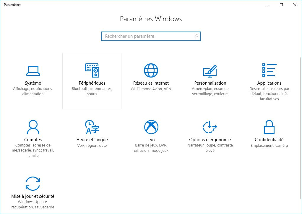 activer le mode jeu windows 10 parametres