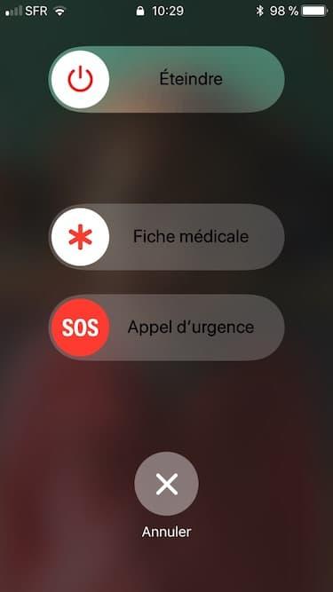 iPhone appel durgence sous iOS 11