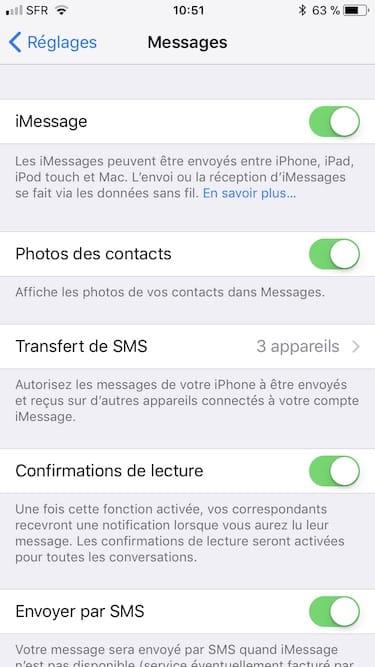 Recevoir les Messages de son iPhone sur tous ses appareils apple transfert de sms
