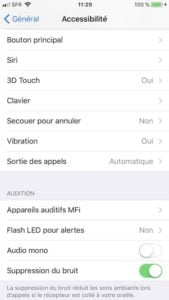 Ajuster le clic du bouton Home sur iPhone bouton principal