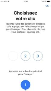 Ajuster le clic du bouton Home sur iPhone choisir retour haptique