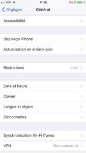 Ajuster le clic du bouton Home sur iPhone reglages accessibilite