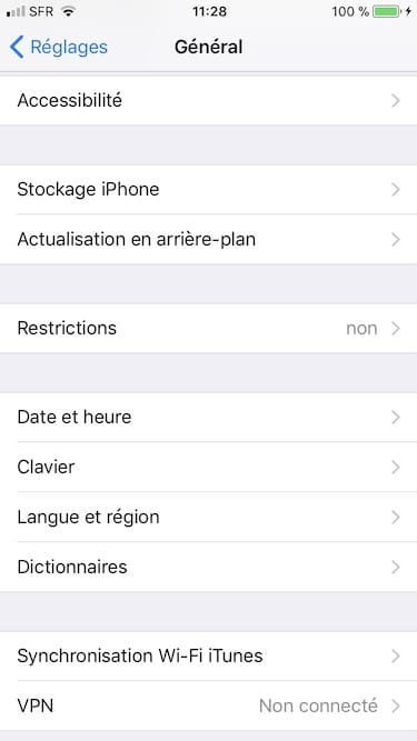 Ajuster le clic du bouton Home sur iPhone reglages accessibilite