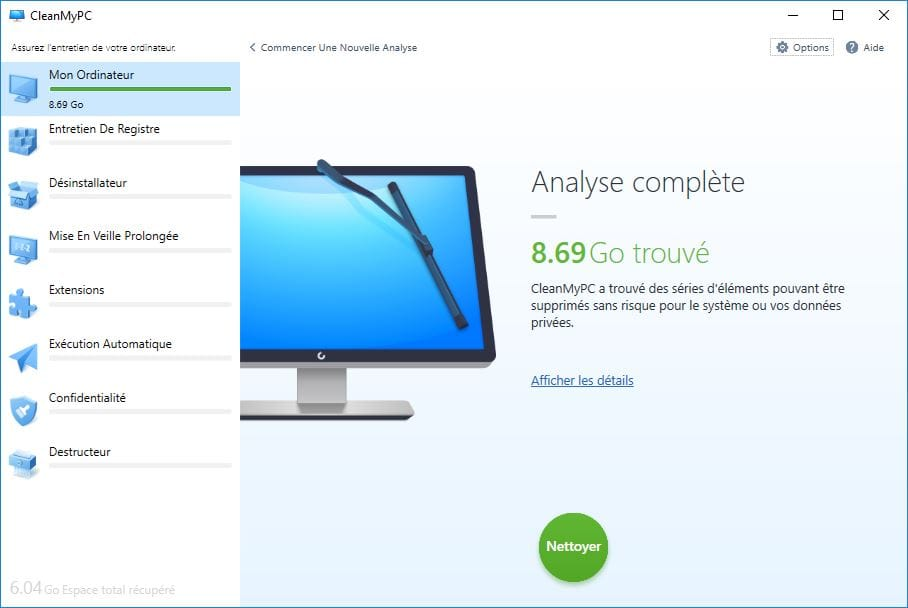 windows 10 lent analyse disque