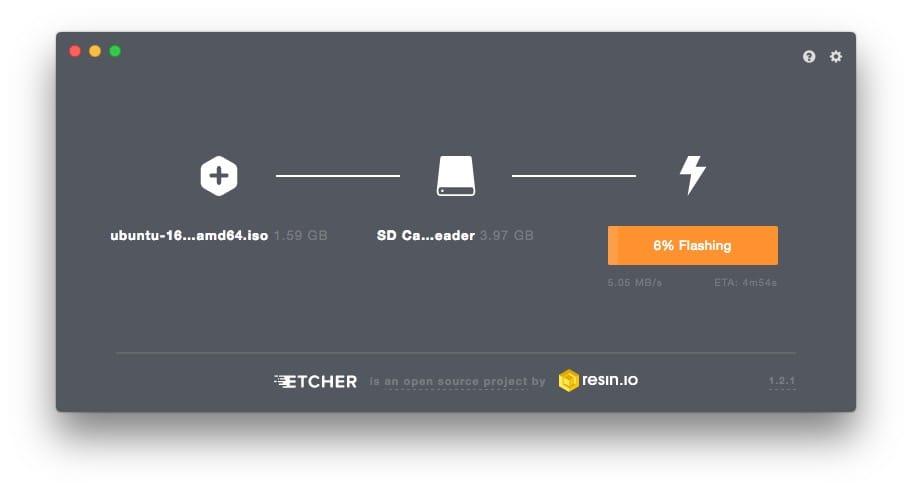 Creer une carte SD bootable de Linux sur mac