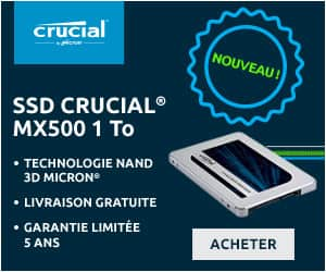 Crucial MX500 1To SSD test