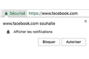desactiver Afficher les notifications Google Chrome