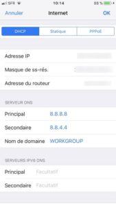 Changer les DNS de son Apple AirPort ios