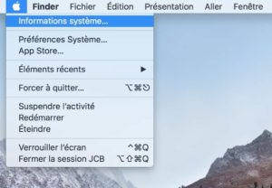 Identifier les applications 32 bits sur Mac informations systeme