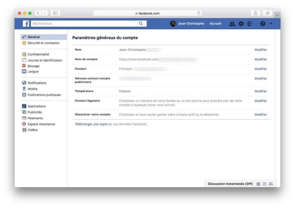 Supprimer son compte Facebook desactiver votre compte