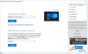 Telecharger Windows 10 Pro en francais
