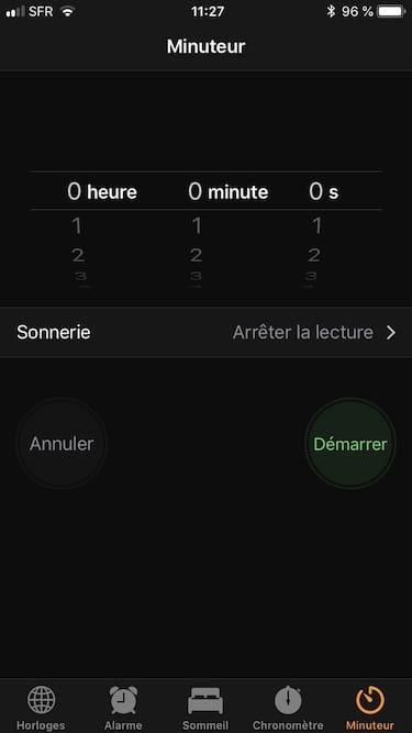 Arreter automatiquement la musique sur iPhone avec le Minuteur