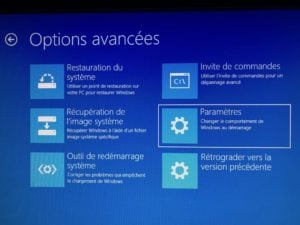 Demarrer Windows 10 en mode sans echec menu Parametres
