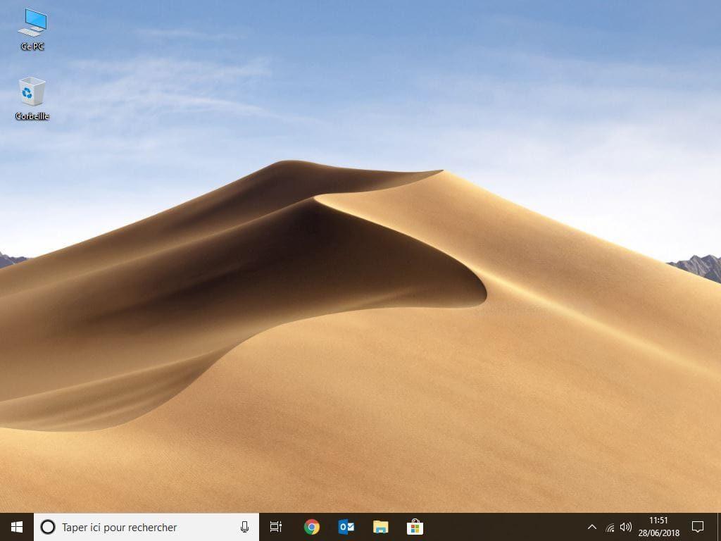 Installer le fond d'ecran de macOS Mojave sous Windows ou Linux