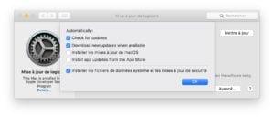 Mettre a jour macOS Mojave manuellement ou automatiquement choix