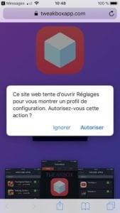Installer Kodi sur iPhone et iPad profil de configuration
