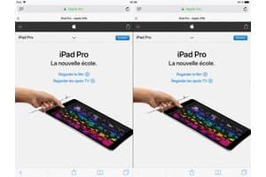 Afficher deux pages Web Safari iPad split view tutoriel