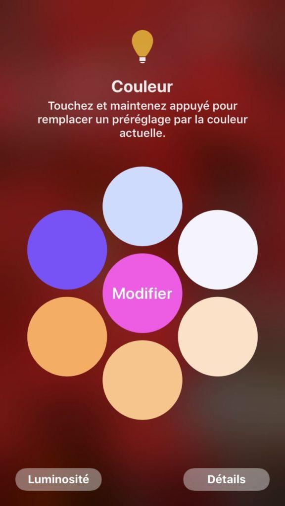 Koogeek Smart Light Strip reglage couleurs